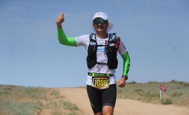 Спортсмен-любитель из Алтуфьева пробежал 61 километр вблизи озера Эльтон