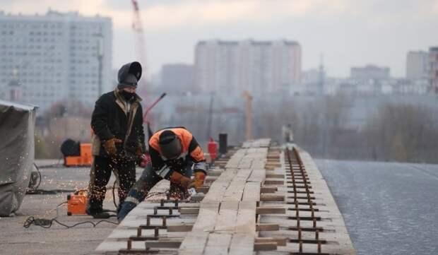 Начался демонтаж Старо-Рублевского путепровода