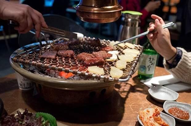 Korean marinated beef at Maple Treehouse in Samchongdong, Seoul.