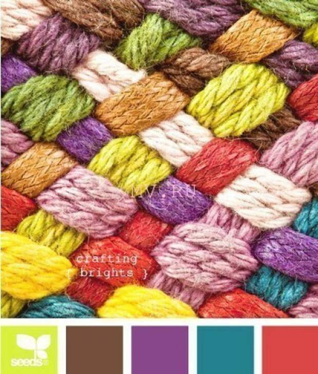 Сочетания цветов для вязания