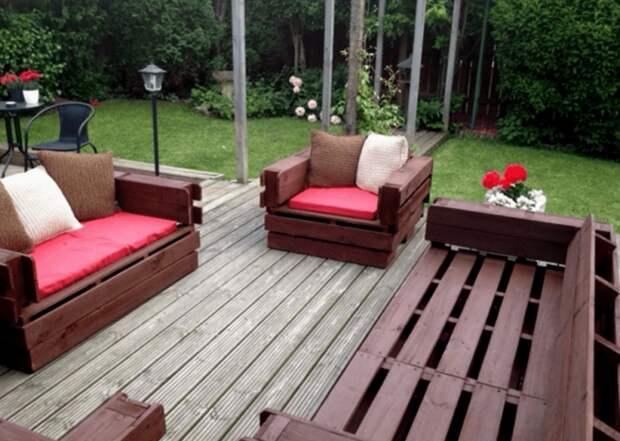 Комплект мебели для летней беседки - отличная идея для обустройства бюджетной и комфортной площадки для отдыха на территории загородного участка.
