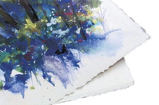 На какой стороне акварельной бумаги рисовать?