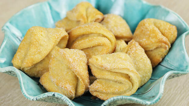 Печенье «Творожные конвертики». Вкус детства. Рецепт, Видео рецепт, Печенье, Творожное печенье, Видео, Длиннопост