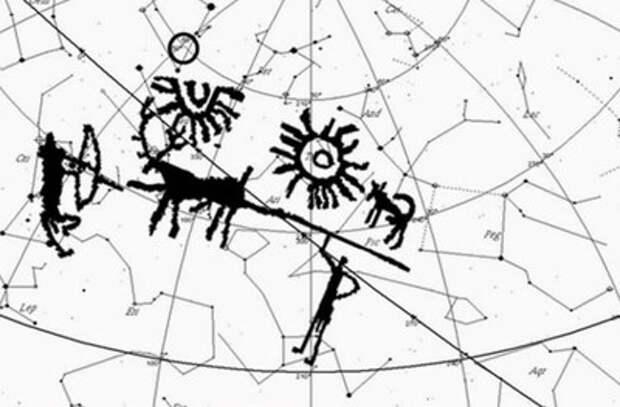 На наскальном рисунке нашли древнейшую карту звездного неба