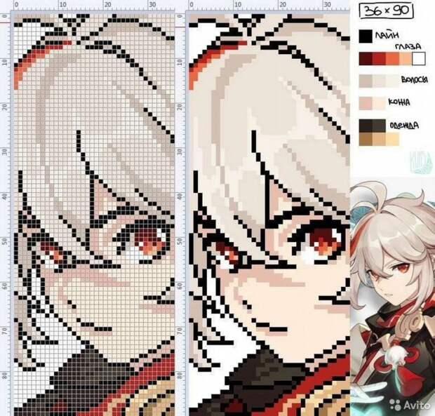 Вышивка крестиком по Genshin impact (23 персонажа!)