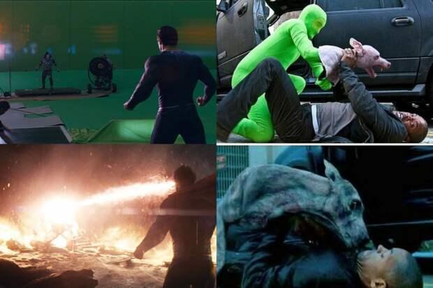 10+ интересных фото, показывающих, как фильмы выглядят без спецэффектов