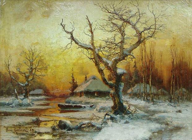 Зимний пейзаж. 1889 (700x510, 477Kb)