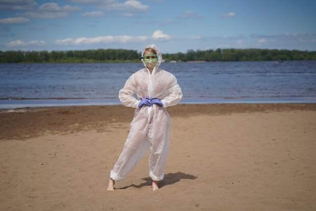Мария поняла, что работа врачей сейчас очень непростая Фото: Светлана МАКОВЕЕВА