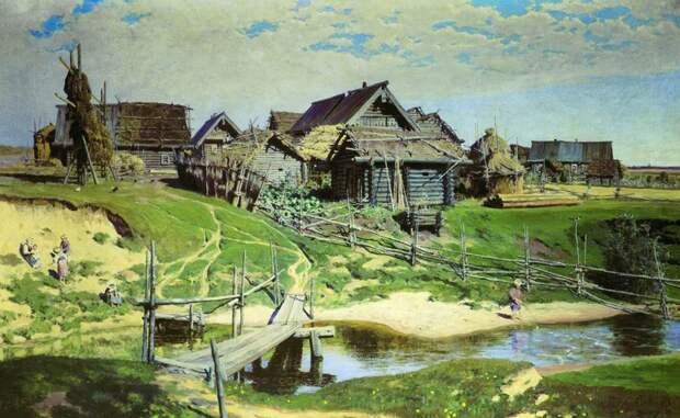 Василий Поленов. Деревня.