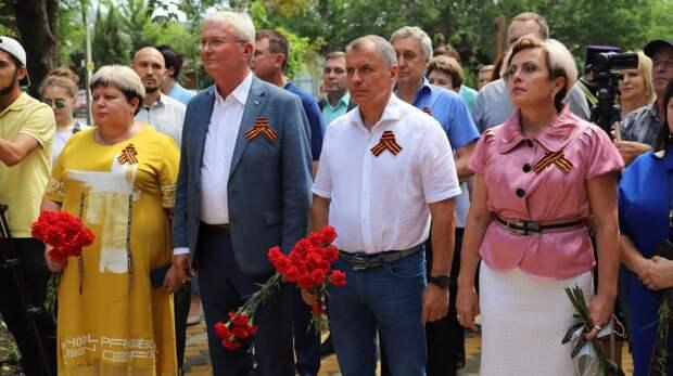 В селе Скалистое Бахчисарайского района состоялось торжественное открытие памятного знака в честь воинов-односельчан, павших в боях за освобождение Родины