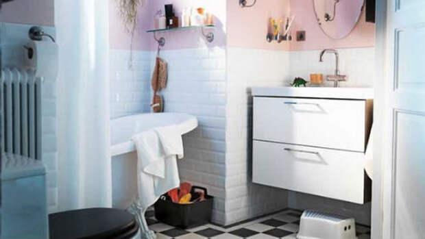 мебель в маленькой ванной комнате