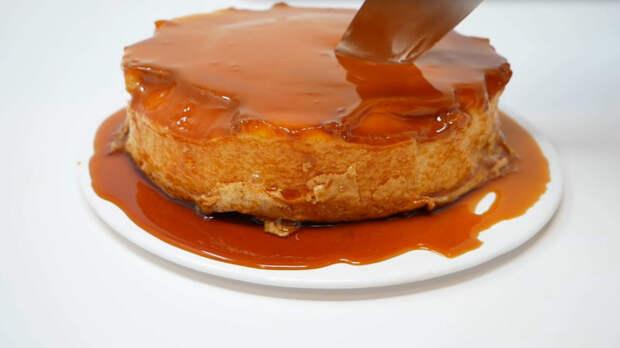 Карамельный торт всего из двух ингредиентов восхитит всю семью