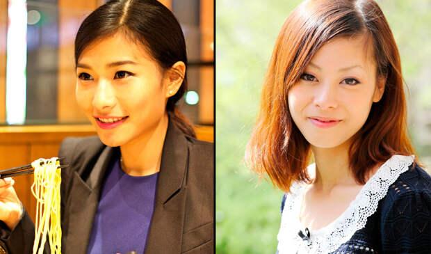 Китаянка слева, японка справа