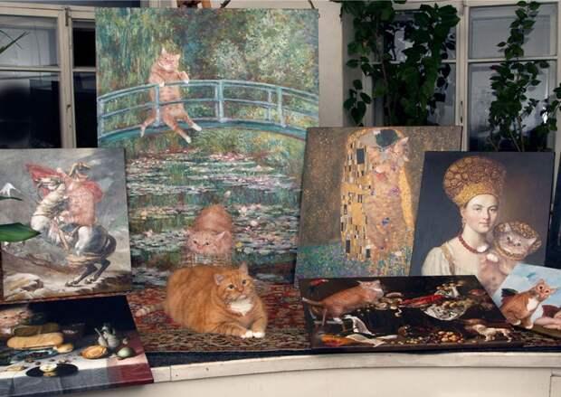 Русский Мяуарт в произведениях художников-классиков