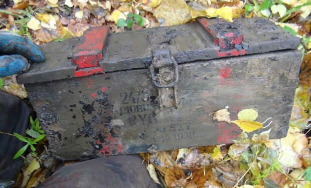 Тяжелый сундук со дна болота: редкая удача времен Войны