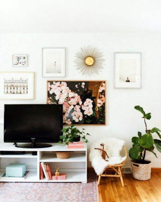 Слишком много декора в интерьере. | Фото: pinterest.co.kr.