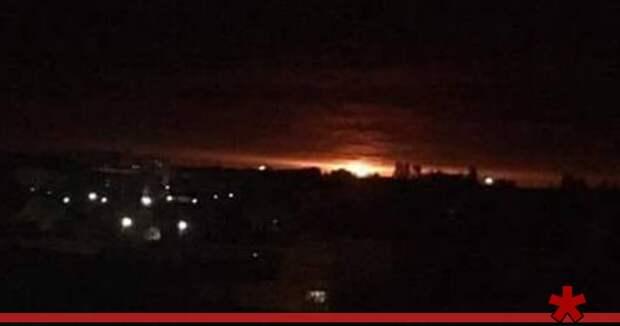 В Черниговской области Украины горит военный склад, идет эвакуация людей