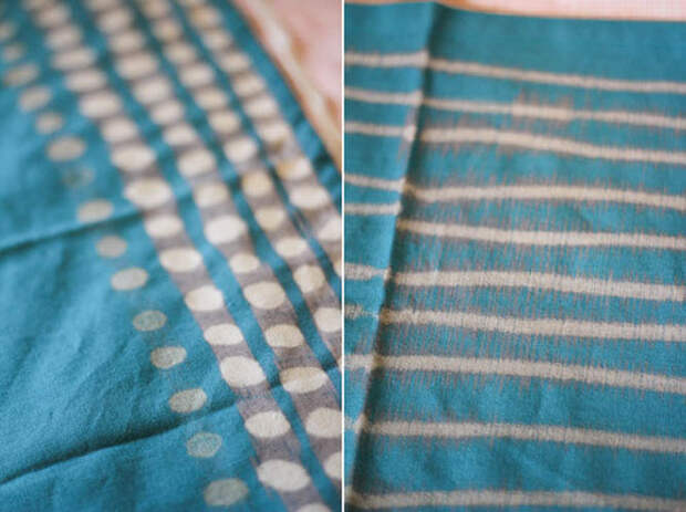 Рисуем отбеливателем - оригинально оформляем ткань