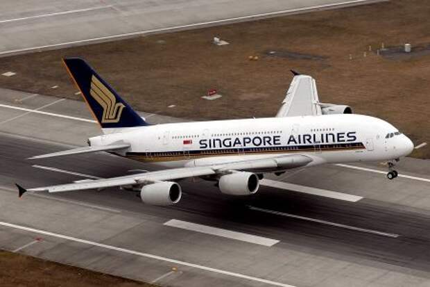 Airbus A380-841 авиакомпании Singapore Airlines