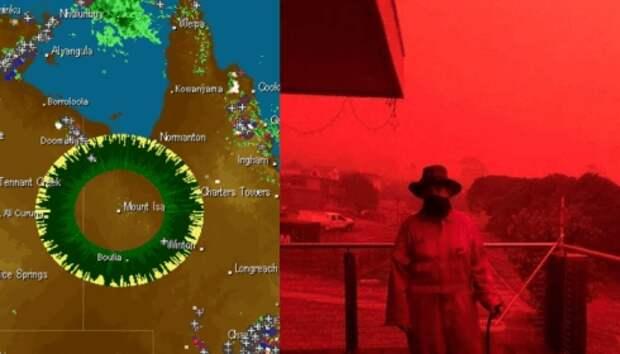 Сжигая Австралию кто-то меняет на Земле климат