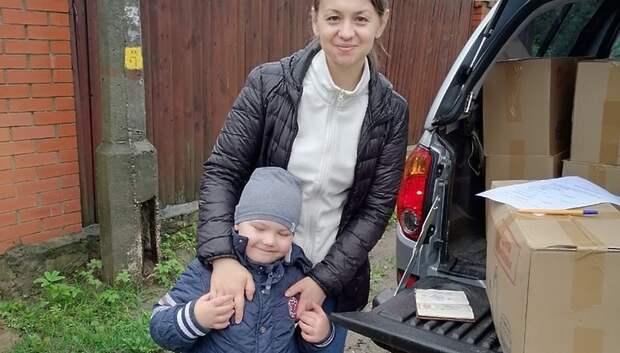 Волонтеры Подольска передали наборы еды более 60 семьям с детьми‑инвалидами