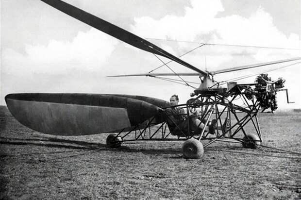 Кроме автожиров, шла работа и над вертолётами — R2 Revoplan один из подобных проектов Хафнера и Наглера, 1933 год - Нетрадиционная любовь Бруно Наглера | Warspot.ru