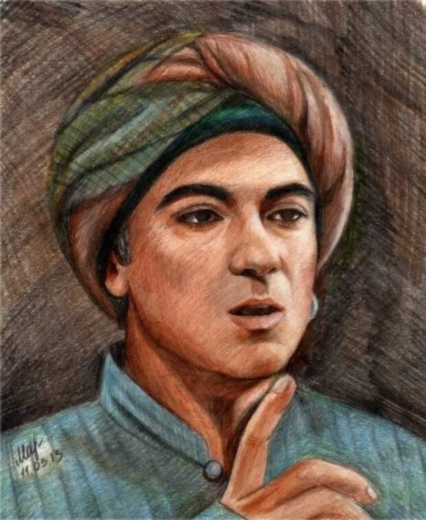 Рисунок Натальи Макаровой «Евнух Сюмбюль-ага из сериала Великолепный век»