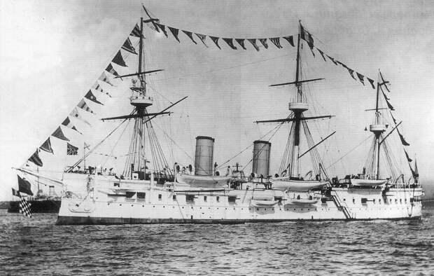 Броненосный крейсер «Дмитрий Донской». <br>