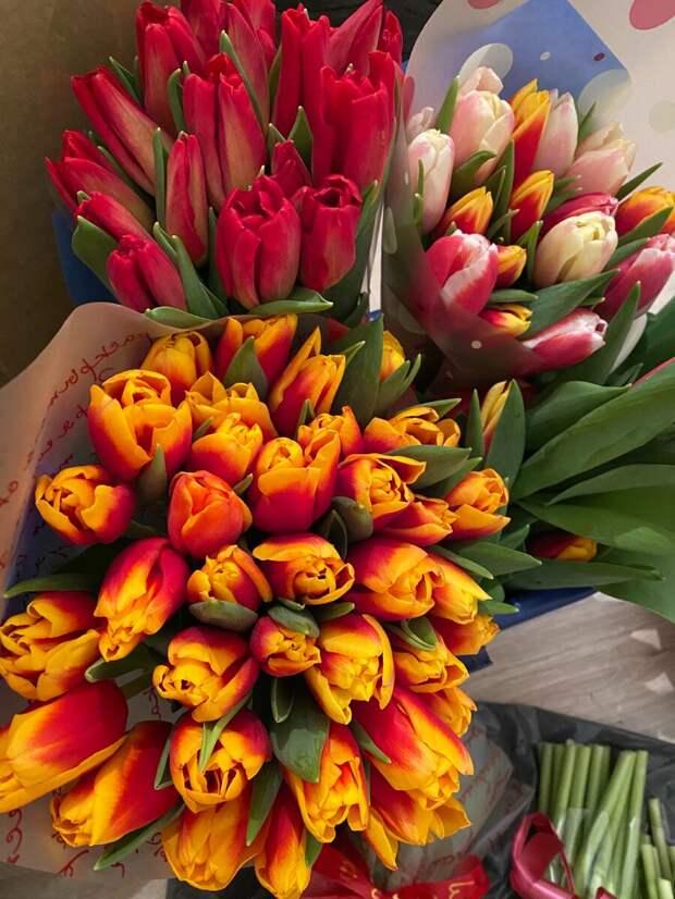 Цветочной дельце на 8 марта.
