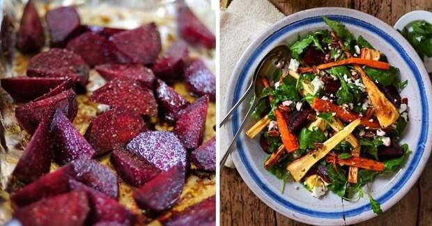 рецепт теплого салата из овощей