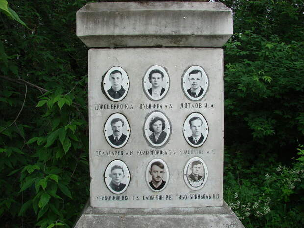 Погибшие туристы из группы Дятлова © wikimapia.org