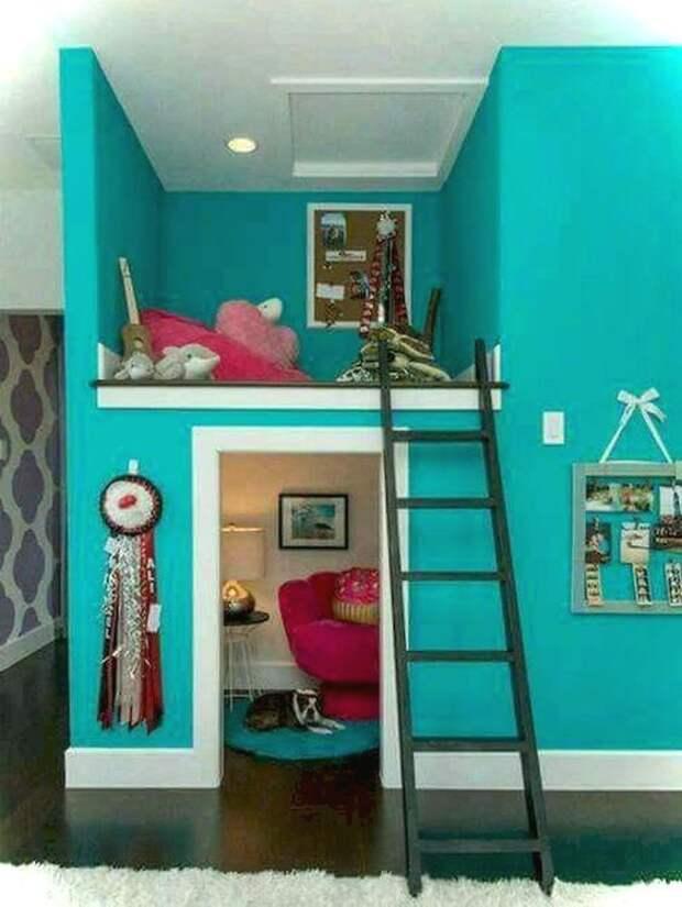 как можно разграничить комнату с двумя окнами на двух разнополых детей