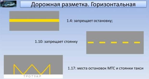 Во втором приложении ПДД описаны виды горизонтальной дорожной разметки / Фото: ppt-online.org