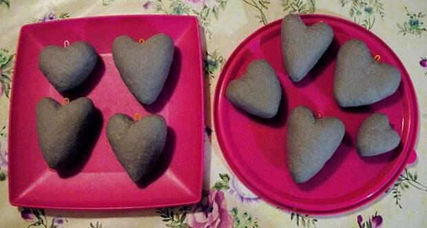 Сердечки из папье-маше