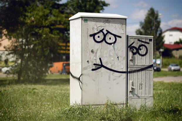 Стрит-арт в городе Ольштын (Польша), автор Adam Lokuciejewski