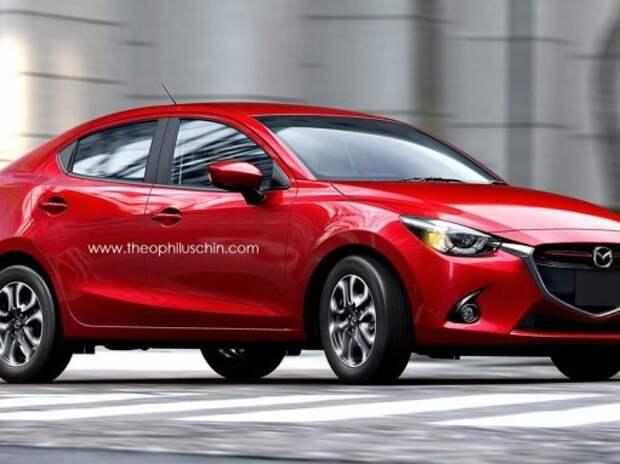 Новый компактный седан Mazda2 представят 28 ноября