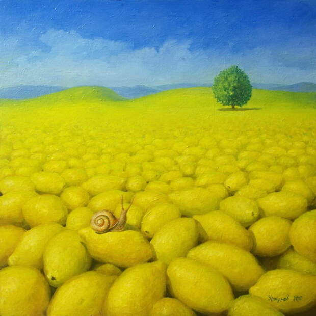 Лимонные картины Виталия Уржумова