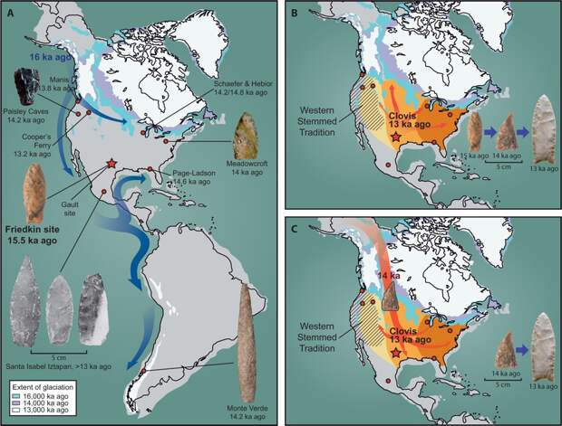 Обнаружено древнейшее в Северной Америке оружие