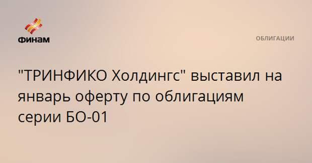 """""""ТРИНФИКО Холдингс"""" выставил на январь оферту по облигациям серии БО-01"""