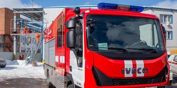На Новой Башиловке пожарные потушили горящий мусор