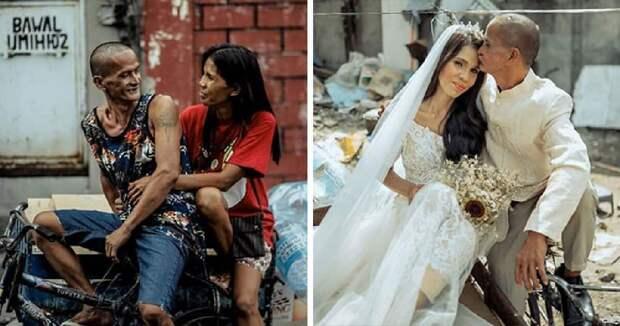 Добрые люди устроили свадьбу для пары бездомных, которые уже 24 года вместе