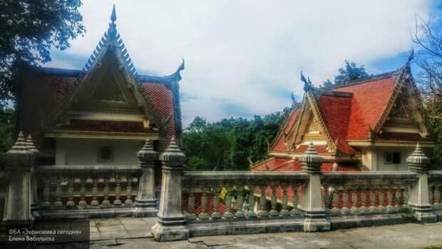 Пьяная голая туристка забралась в буддистское святилище и материла прохожих