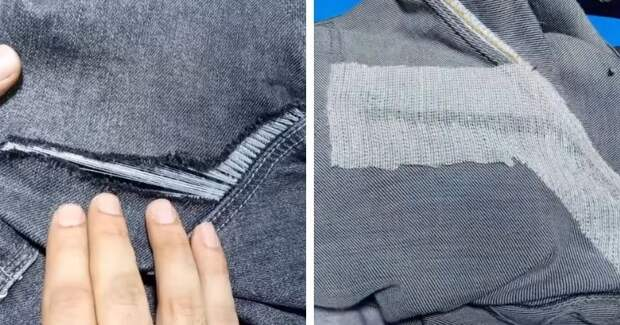 Зашейте дырку на джинсах между ног: простой метод без швейной машинки