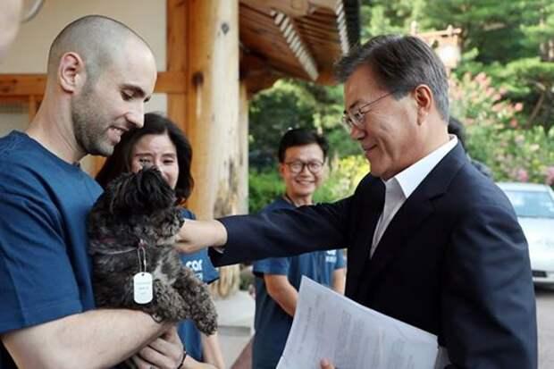 Вновь избранный президент Южной Кореи приютил собаку