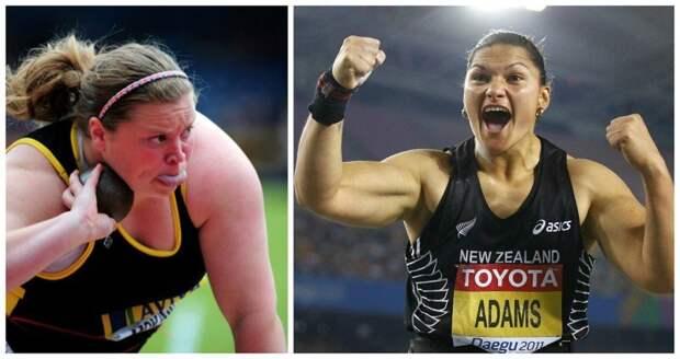 Спортсменки чемпионки по толканию ядра- София Маккина и Валери Адамс. А представьте если она захочет запустить в вас тарелкой? бодибилдеры, всячина, женщины, интересное, красота, культуризм, сила, спорт