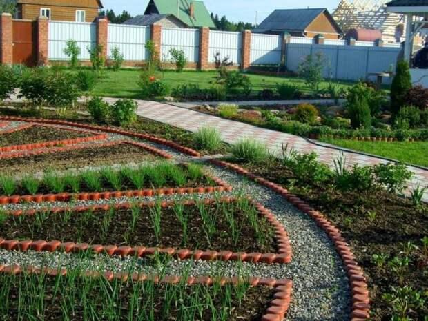 С такой эффектной организацией пространства любой участок преобразится. /Фото: simya.com.ua