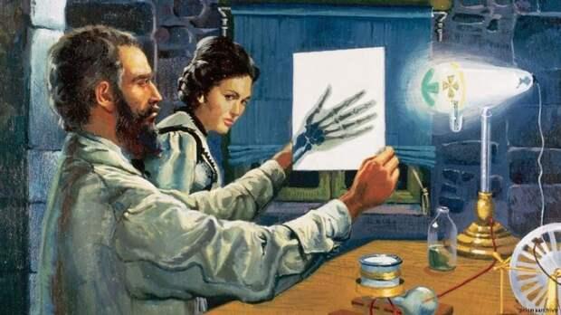 Вильгельм Рентген в лаборатории. | Фото: dw.com.