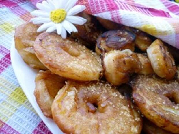 Пончики фруктовые вкусные и хрустные