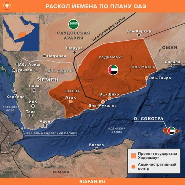 Раскол Йемена и база Израиля на Сокотре