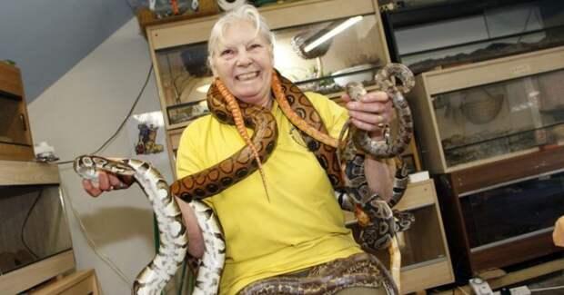 Миллионы на хобби: как английская пенсионерка стала повелительницей змей